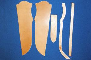Всадные ножны, краткое описание основных этапов работы 2