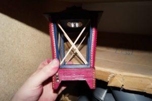 Светильник-ночник из натуральной кожи 119