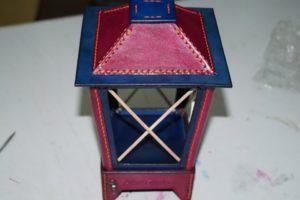 Светильник-ночник из натуральной кожи 122
