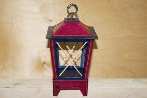 Светильник-ночник из натуральной кожи 125