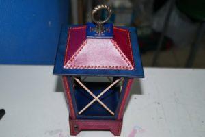 Светильник-ночник из натуральной кожи 126