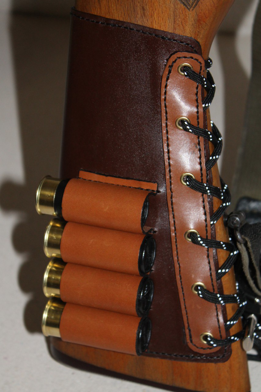 Патронташ для ружья из кожи