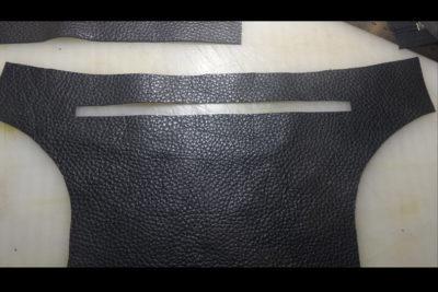 Кожаная сумка на бедро 15