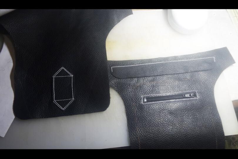 Кожаная сумка на бедро 24