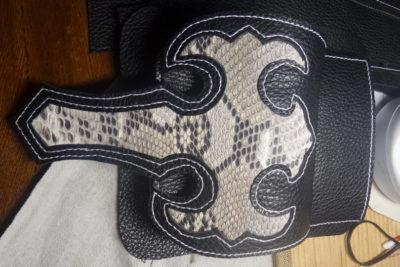 Кожаная сумка на бедро 38