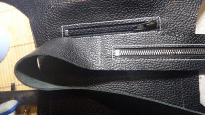 Кожаная сумка на бедро 42