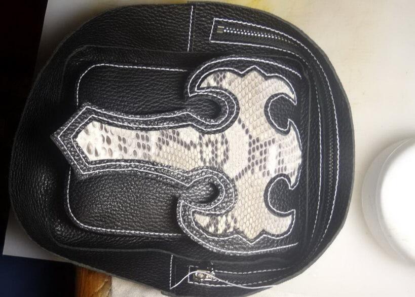 Кожаная сумка на бедро 45