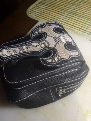 Кожаная сумка на бедро 46