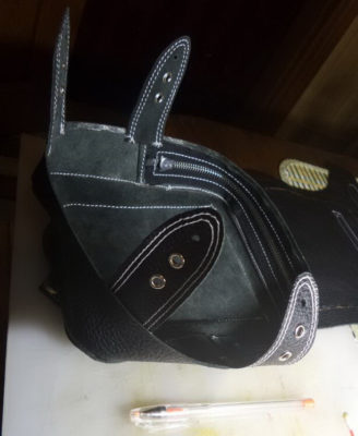 Кожаная сумка на бедро 47
