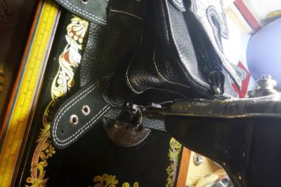 Кожаная сумка на бедро 48