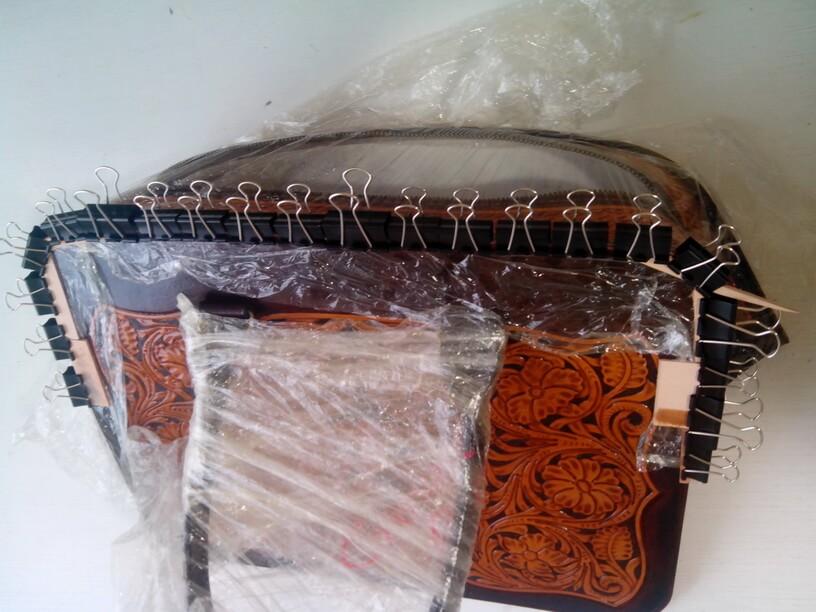 """Кожаная сумка с тиснением в стиле """"Шеридан"""" 65"""