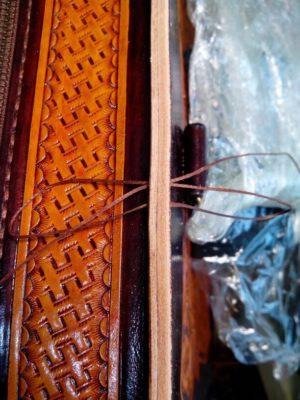 """Кожаная сумка с тиснением в стиле """"Шеридан"""" 78"""