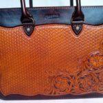 """Кожаная сумка с тиснением в стиле """"Шеридан"""" 96"""