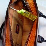 """Кожаная сумка с тиснением в стиле """"Шеридан"""" 98"""