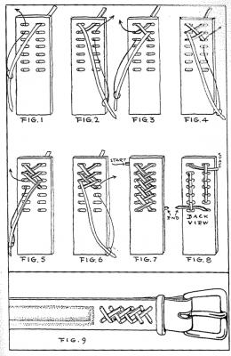 Узор из кожаных ремешков 1