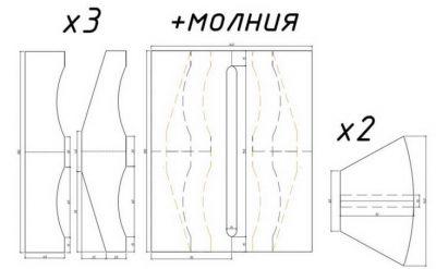 Кожаный кошелек с тиснением 1