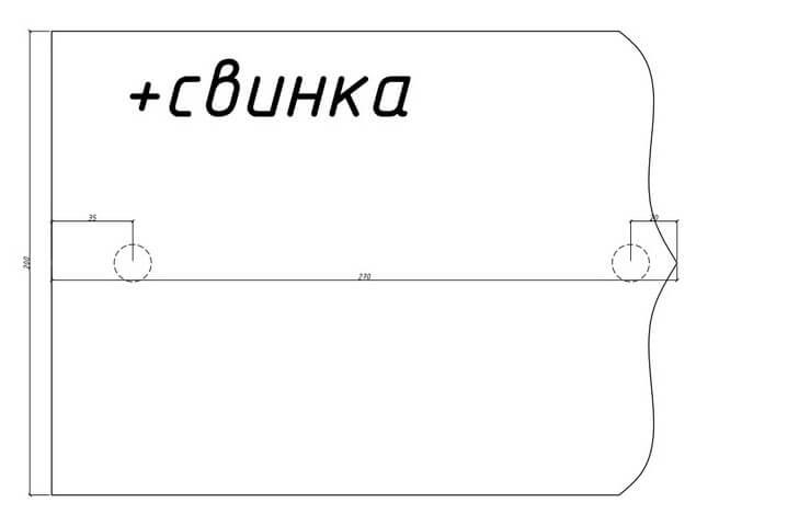 Кожаный кошелек с тиснением 2