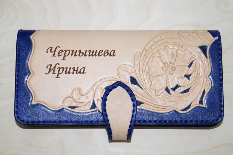 Женский кошелек с тиснением 34